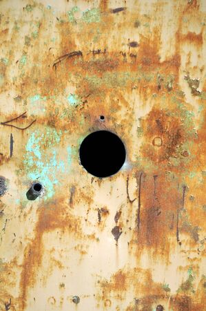 Rusty scratched industrial metal surface. Background texture. Stock Photo - 8554003