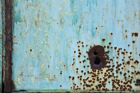 Rusty scratched worn metal surface. Background texture. Stock Photo - 8597187