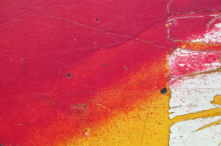 Chipped paint on industrial painted metal texture. Stock Photo - 8735353