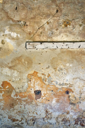 �oldy crumbling wall texture. Abandoned house inter. Stock Photo - 8735484
