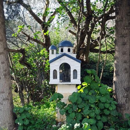 Small church street shrine in Athens, Greece. Stock Photo - 8735475