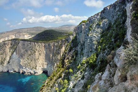 craggy: Craggy coastal ridges as seen from Keri village lighthouse, Zakynthos island, Greece.