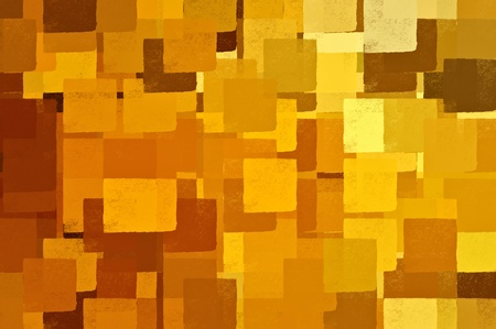 Square shapes in shades of brown and yellow. Abstract bsckground illustration. illustration