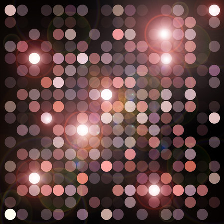 flares: Circles geometric pattern and flashing lights background. Abstract digital illustration. Stock Photo