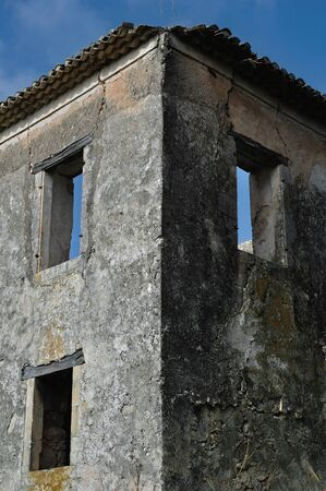 Abandoned rural house in Zakynthos, Greece. Architectural detail. Stock Photo - 9115770