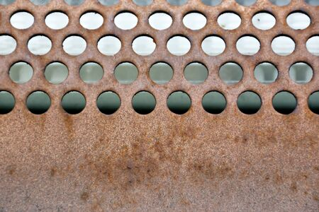 Rusty circles surface. Industrial grill metal background texture. Stock Photo - 9115710