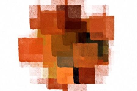 cubismo: Plazas patr�n de pintura m�nima sobre fondo blanco. Ilustraci�n abstracta.