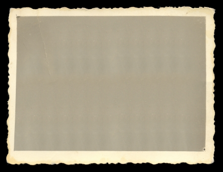 Vintage old blank photograph design element with white border. photo