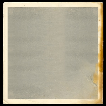 Vintage old blank burned photograph design element with white border. Stock Photo - 9316347