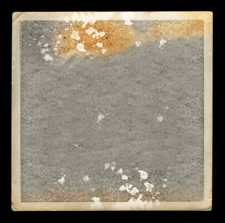 tattered: Faded picture vintage blank photo border. Grunge background design element.