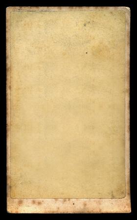 Antique blank photograph on vintage paper  Victorian era retro cabinet card design element Stock Photo - 13088043