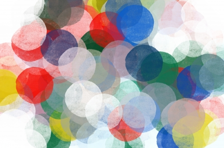 Abstract transparent circles pattern illustration. Brush paint pop art background.