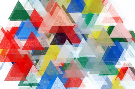 Triangles pattern illustration. Brush paint impressionist abstract background. Stock Photo