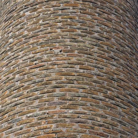Curved brick wall background texture. Factory chimney detail. Stock Photo - 16185891
