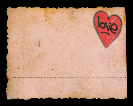 tattered: Valentine Stock Photo