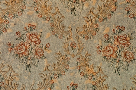 Antique floral pattern victorian wallpaper retro background texture. photo