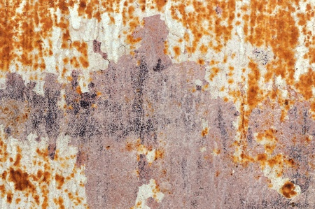 Chipped paint rusty metal surface. Abstract iron texture background. Stock Photo - 17122270