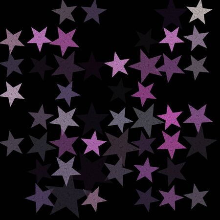 Stars on the night sky abstract illustration. Grunge pattern background. illustration