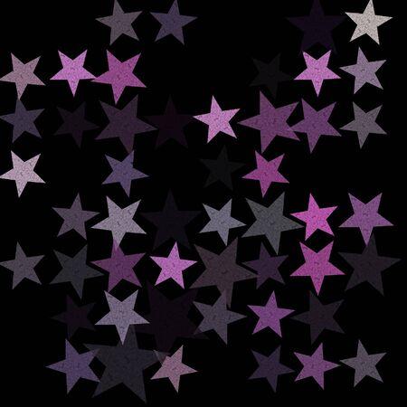 Stars on the night sky abstract illustration. Grunge pattern background. Stock Illustration - 17122196