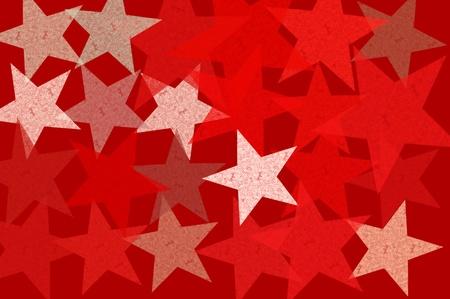 Stars grunge pattern abstract illustration. Red background design element. Stock Illustration - 17932464