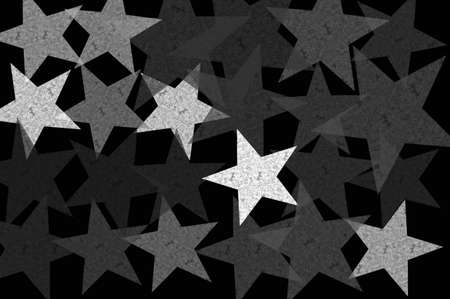 Stars at night grunge pattern abstract background illustration. Black and white. Stock Illustration - 22304069