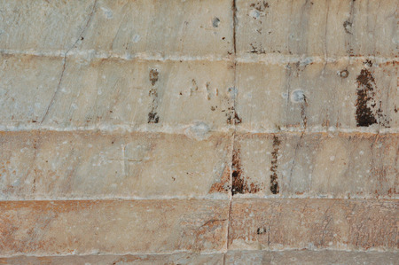 Detail of ancient greek column from the temple of Hephaestus. Marble texture background. photo
