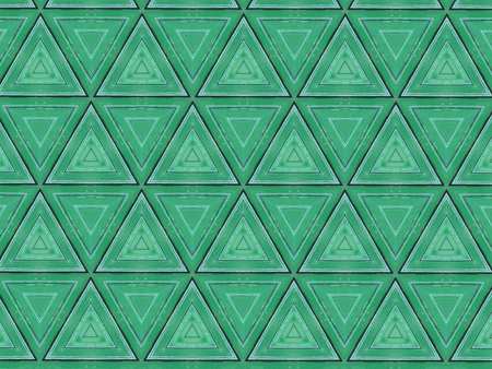 Abstract triangles textured wood pattern. Green geometric background.