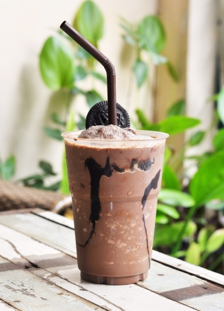 frappe: chocolate frappe