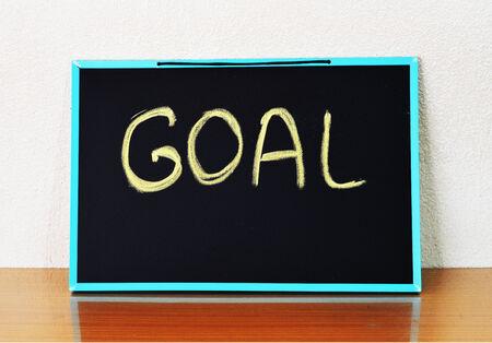 goal word on board Standard-Bild
