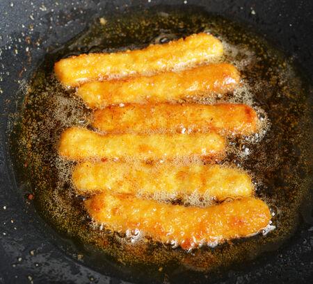 fried stick nugget Standard-Bild
