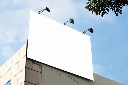 空白の広告看板