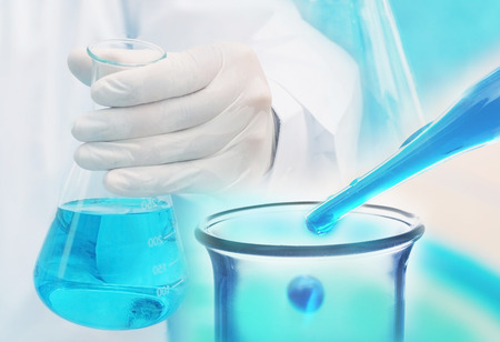 science lab: chemical research at science lab Stock Photo