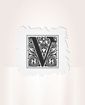 Art deco alphabet Illustration