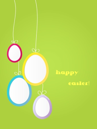 Vector Easter background or postcard with eggs. Illustration
