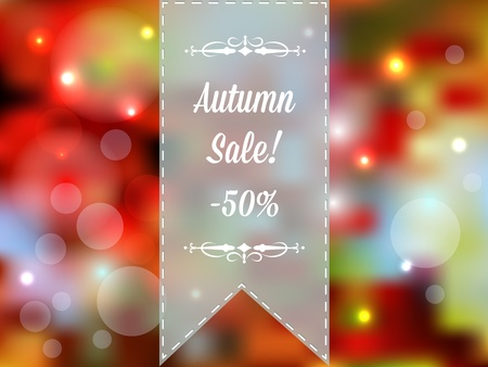 Autumn sale vector retro poster with abstract background Vector