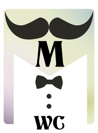 male symbol: Retro toilet symbol WC man and woman