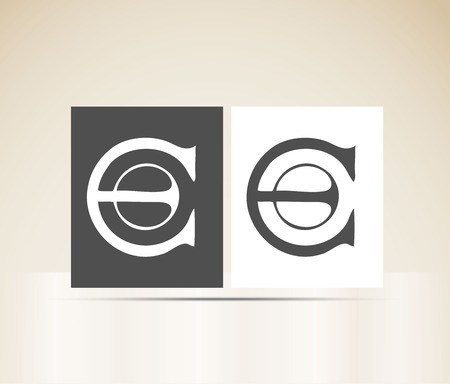 Letter E art deco alphabet
