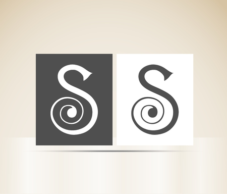 Letter S art deco alphabet Vector