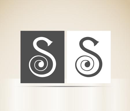 lettre s: Lettre S art déco alphabet Illustration