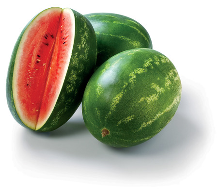 Water Melon on the white background summer Stock Photo