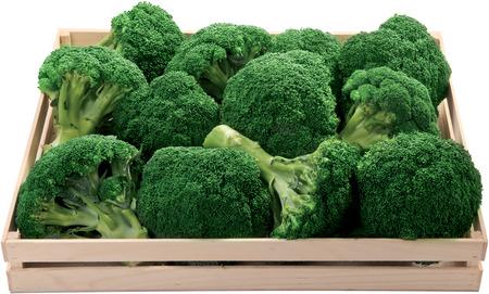 Healthy broccoli in a box raw food vegetable