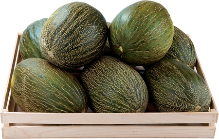 Melons in a box background sweet fruit raw food