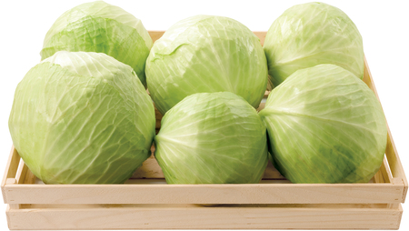 White cabbage in a box raw food vegetable Stock Photo