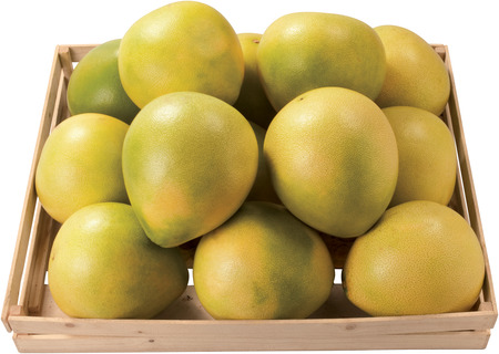 Sweet pommelo in a box fruit raw food healthy