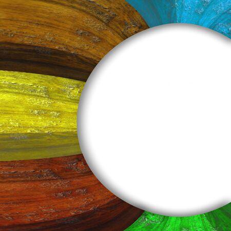 framed: framed wooden colours and white background Stock Photo