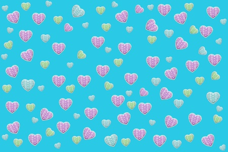 Turquoise Fund with small hearts photo
