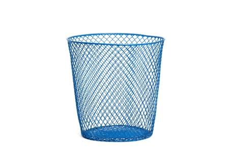 wastebasket: empty wastebasket  on white background isolated  Stock Photo
