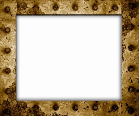 rusty old metal frame empty Stock Photo - 9131284