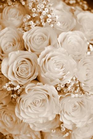 Tono di bouquet seppia sfondo  Archivio Fotografico - 9171477