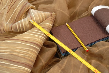 fabrics for interior decoration  Stock Photo